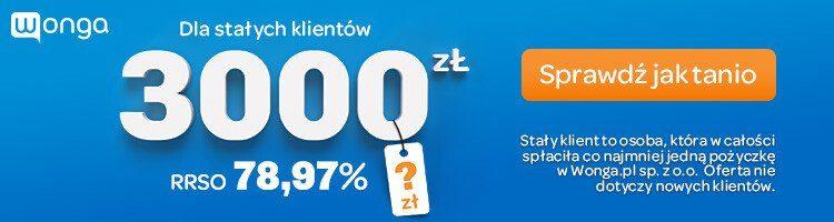 Wonga chwilówka lub pożyczka ratalna do 20000 zł na 60 m-cy 1
