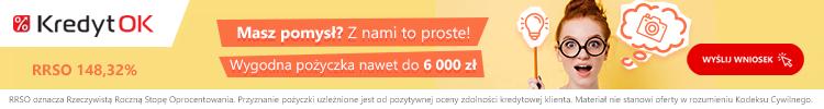 KredytOK pożyczka na 4 raty do 6000 zł 1