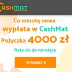 Cashmat pożyczka 1000 zł na 30 dni lub do 4000 zł na 30 m-cy