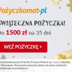 Pożyczkomat do 1500 zł na 35 dni bez opłat
