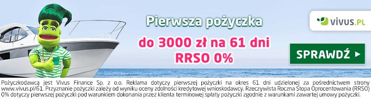 Vivus pożyczka bez opłat 3000 zł na 61 dni 1