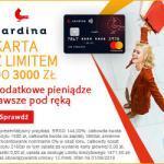 Cardina pożyczka chwilówka jako limit na karcie do 3000 zł na 30 dni