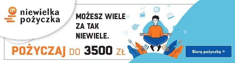 Niewielka Pożyczka do 3500 zł na 30 dni 1