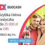 Duocash pożyczka ratalna bez bik z poręczeniem do 25 000 zł na 48 m-c