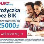 DuetKasa pożyczka ratalna do 25 000 zł na 48 m-cy z gwarantem