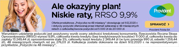 Pożyczka w Provident do 20 000 zł na 48 miesięcy 1