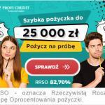 Profi Credit pożyczka ratalna do 20 000 zł na 36 miesięcy