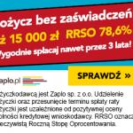 Zaplo pożyczka ratalna do 15 000 zł na 2 lata